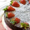 Thumbnail image for Flourless Chocolate Cake with Strawberries