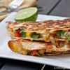 Thumbnail image for Chicken, Caramelized Onion and Mango Quesadillas