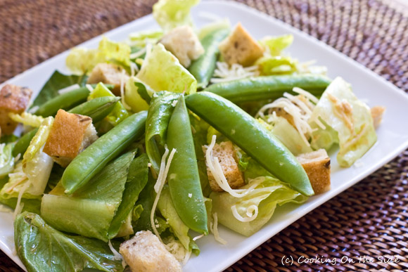 Post image for Caesar Salad with Sugar Snap Peas