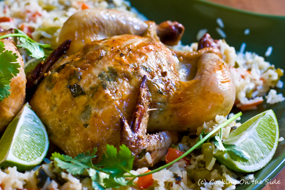 Garlic-Lime Cornish Game Hens