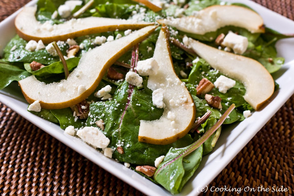 Post image for Spinach Pear Salad