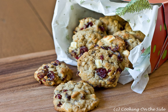 Post image for Oatmeal Cranberry White Chocolate Chunk Cookies
