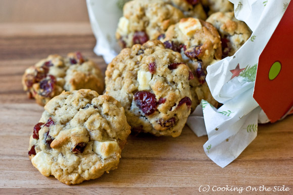 Recipe: Oatmeal Cranberry White Chocolate Chunk Cookies | Cooking On ...