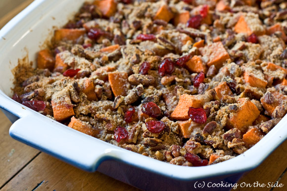 Post image for Roasted Sweet Potatoes with Cinnamon Pecan Crunch