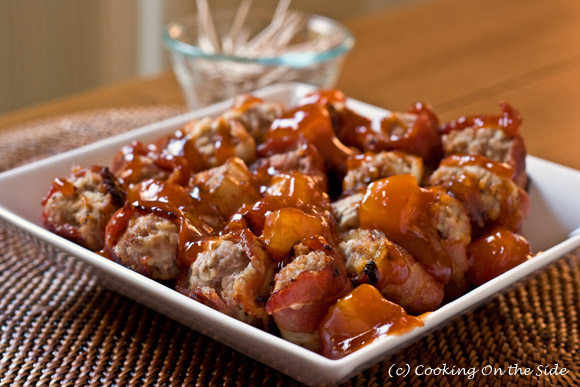 Post image for Bacon Wrapped Sweet & Sour Meatballs