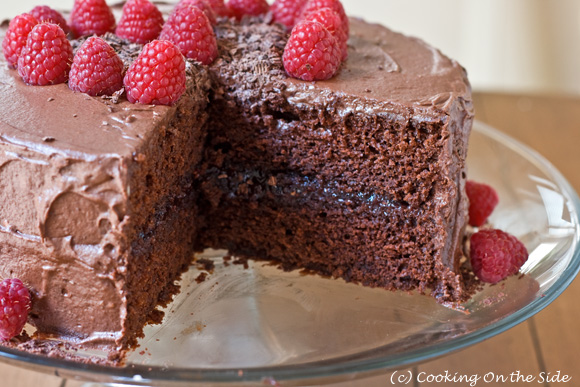Chocolate Fudge Cake cut 580 - Voting For Cooking Cuisine Feb 2014