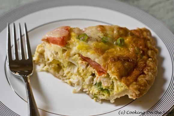 Post image for Crab, Scallion & Tomato Quiche