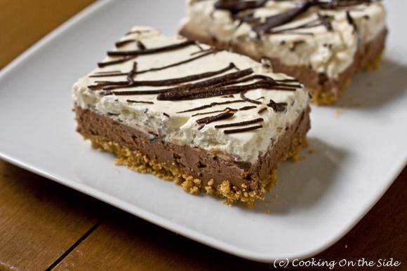 Recipe Chocolate Layered No Bake Cheesecake Bars