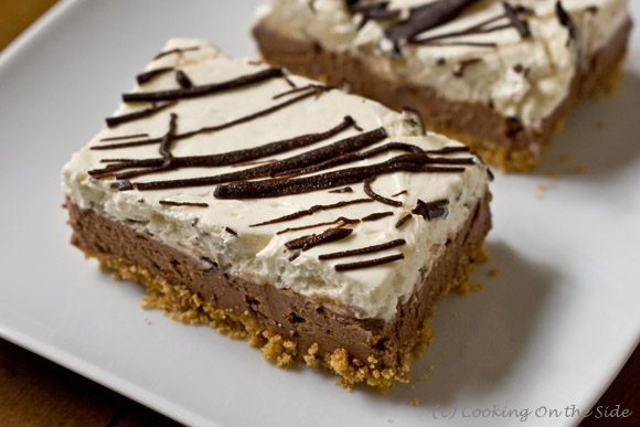 Post image for Chocolate-Layered No-Bake Cheesecake Bars