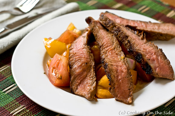 Post image for Sweet & Spicy Grilled Steak with Tomato Relish