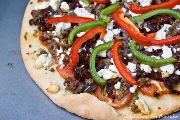 Lamb, Goat Cheese & Rosemary Pizza