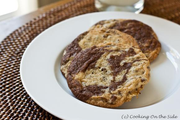 Brownie-Swirled Chocolate Chip Cookies