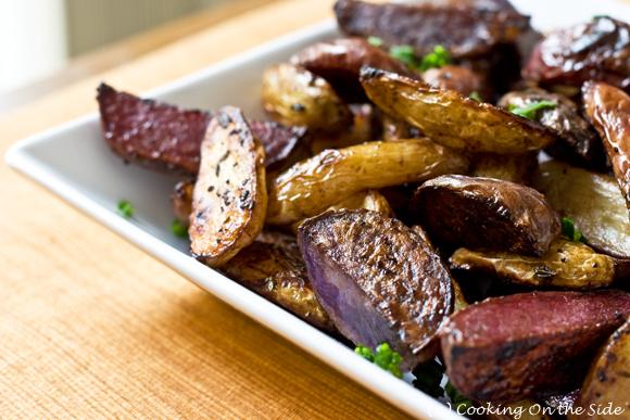 Balsamic Roasted Fingerling Potatoes