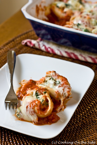 Post image for Sausage & Spinach Stuffed Shells
