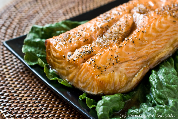 Cedar Planked Salmon with Brown Sugar