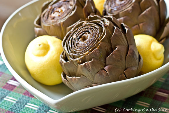 Slow Cooker Garlic Artichokes