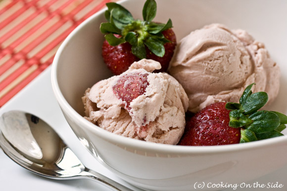 homemade ice cream recipe strawberry recipe cooking on the side 12258