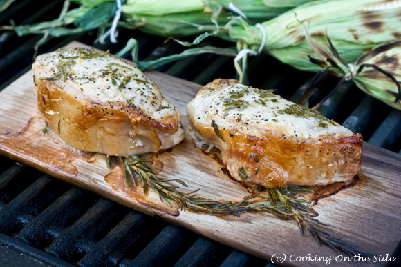Maple Planked Rosemary & Lemon Pork Chops