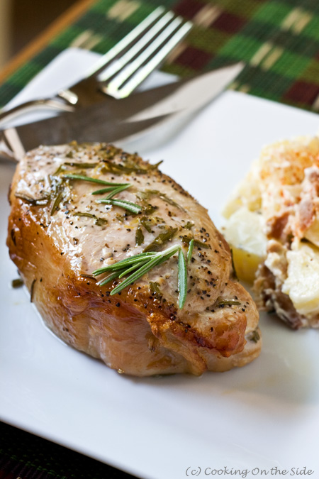 Post image for Maple Planked Rosemary & Lemon Pork Chops