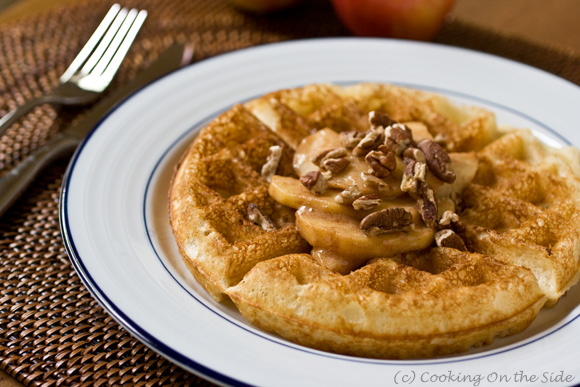 Belgian Waffles with Caramelized Apples