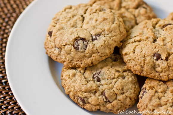 Chocolate Chip Oatmeal Cookie Recipe | Cooking On the Side