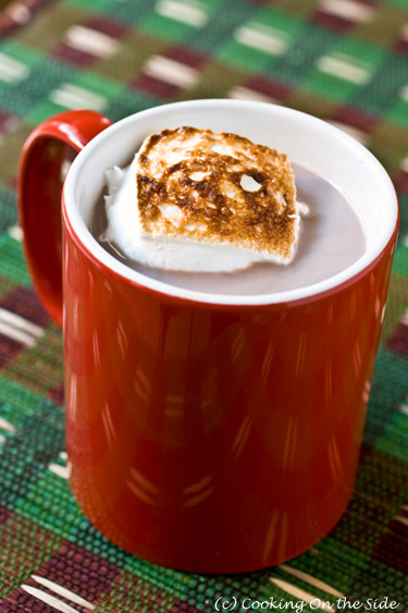 Stovetop Cocoa with Toasted Homemade Marshmallows