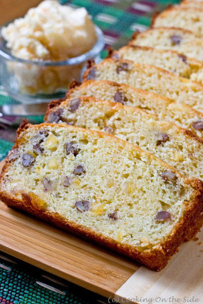 Post image for Orange Mango Nut Bread with Ginger Honey Butter