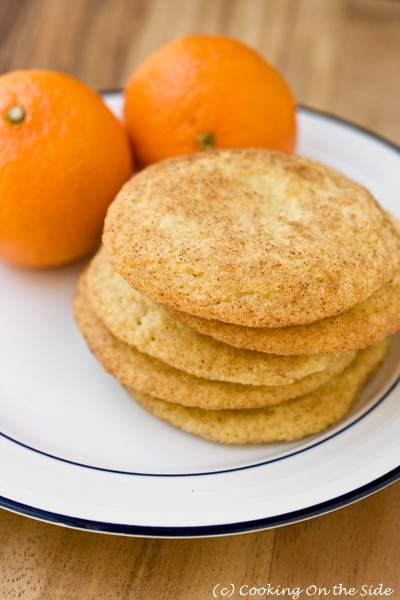 Clementine Orange Snickerdoodles...get the recipe at www.cookingontheside.com