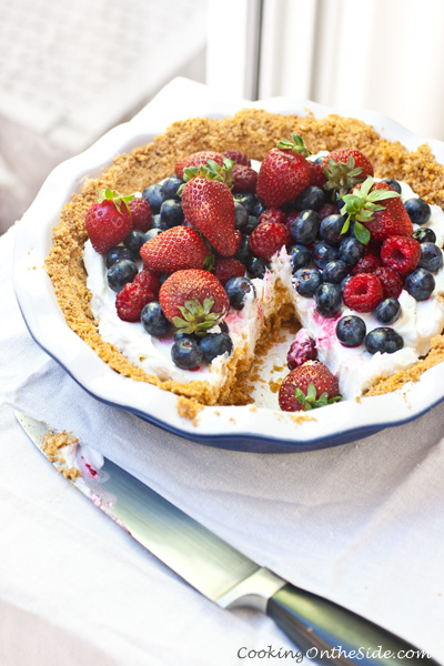 Yogurt Mixed Berry Pie