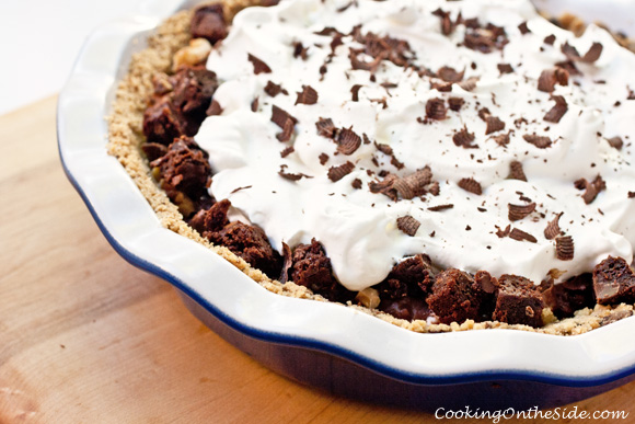 Rocky Road Brownie Pudding Pie