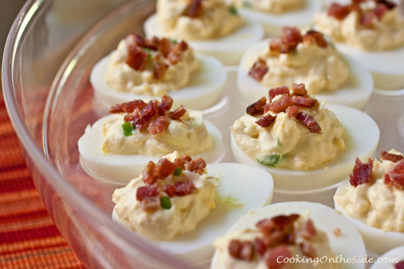 Post image for Bacon-Topped Deviled Eggs + Land O Lakes Giveaway!