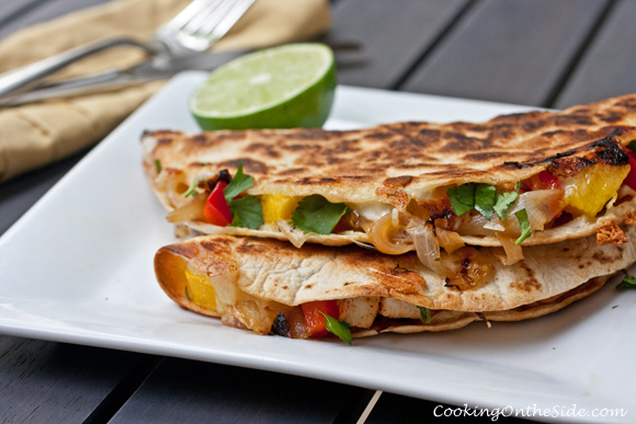 Post image for Chicken, Caramelized Onion and Mango Quesadillas