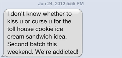 I received a great text from a friend...
