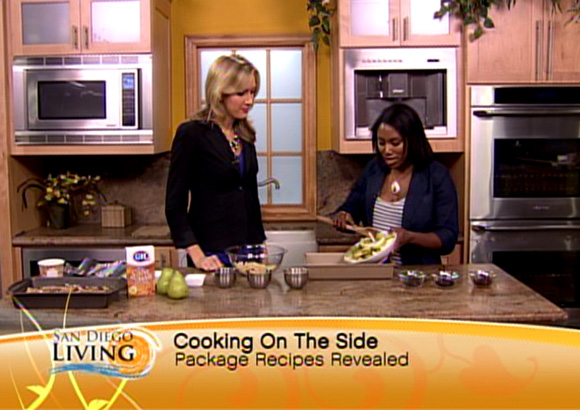 My Pear Crisp demo on San Diego Living