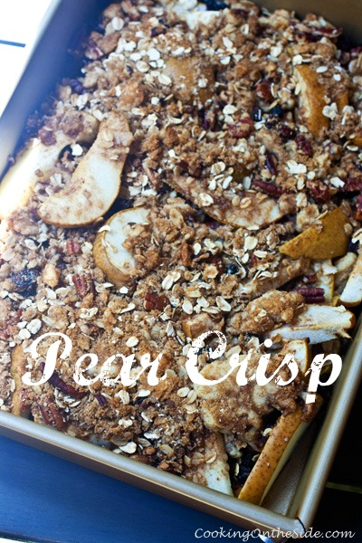 Post image for Pear Crisp…and One Busy Summer