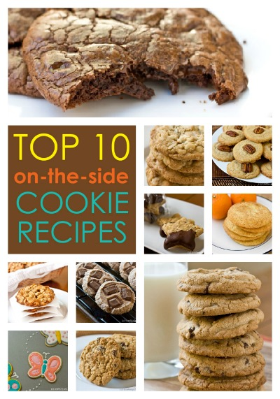 Top 10 Cookie Recipes from on the side of food packages...get the recipes at www.cookingontheside.com