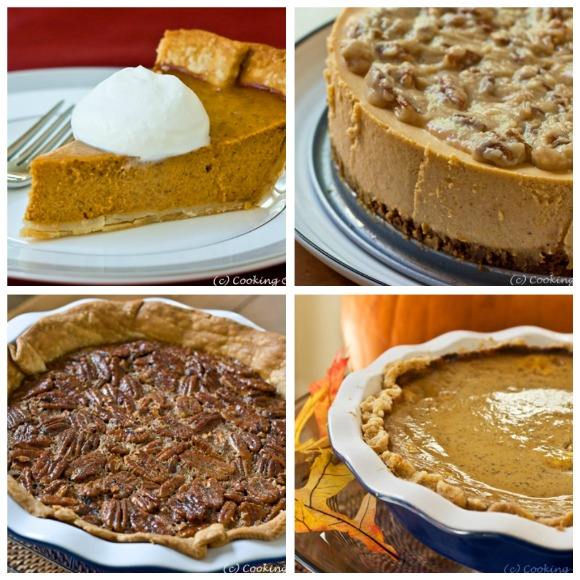 Thanksgiving Desserts and more...get the recipes at www.cookingontheside.com #thanksgiving #dessert