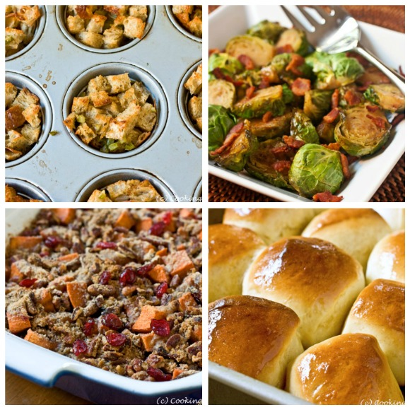 Thanksgiving Side Dishes and more...get the recipes at www.cookingontheside.com #thanksgiving