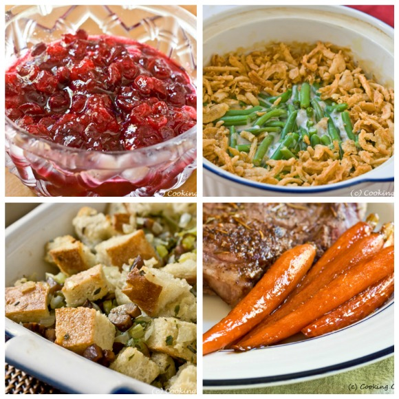 Thanksgiving Sides and more...get the recipes at www.cookingontheside.com #thanksgiving