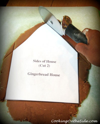 Cutting out the gingerbread with printable templates