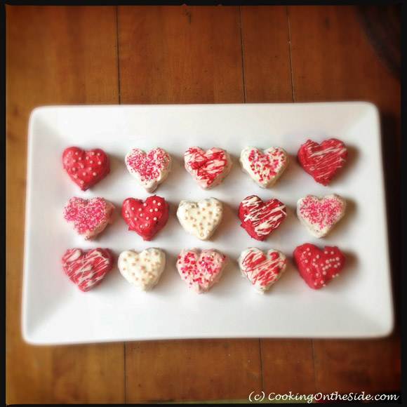 Sweetheart Brownies ...get the #recipe at www.cookingontheside.com (c) Kathy Strahs