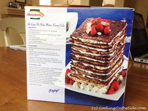 18-Layer No-Bake Matzo S'mores Cake recipe on the Manischewitz Matzo box