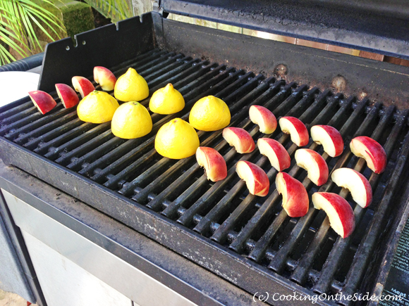 Grilling peaches and lemons