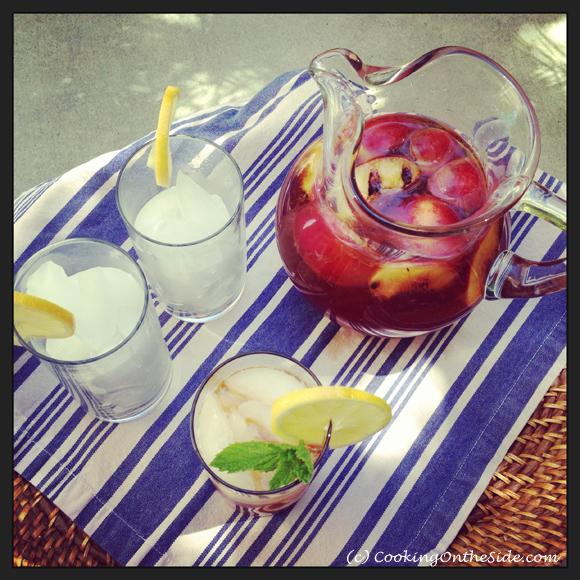 Peach Bourbon Sweet Tea Lemonade