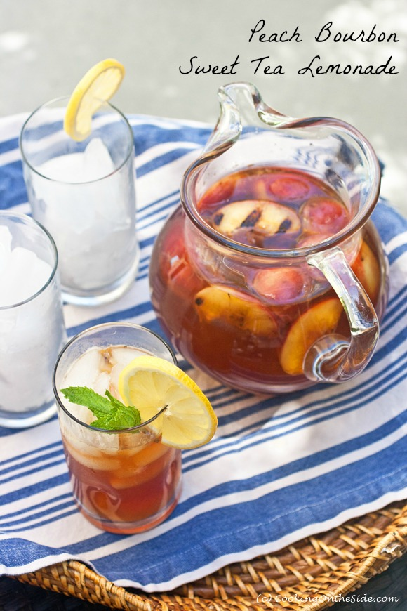 Post image for Peach Bourbon Sweet Tea Lemonade