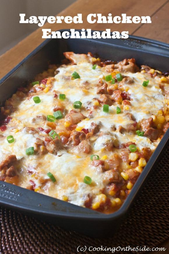 Post image for Layered Chicken Enchiladas