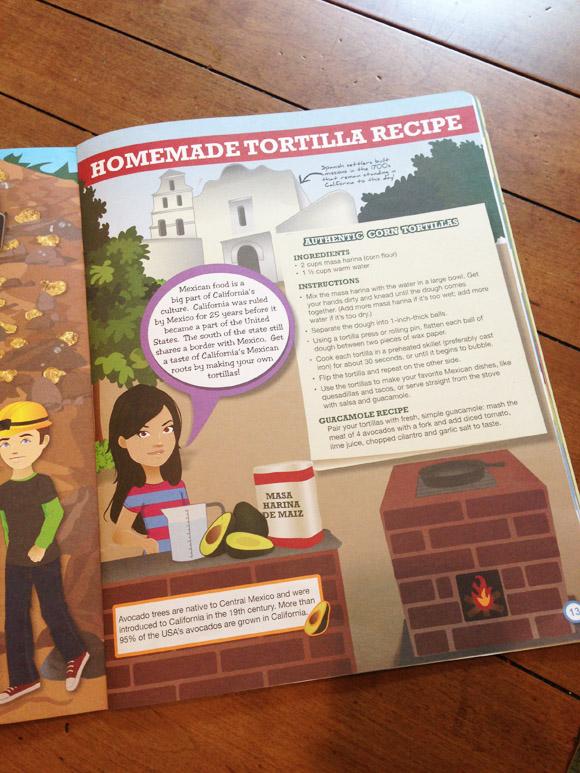 Corn tortilla recipe in Little Passports