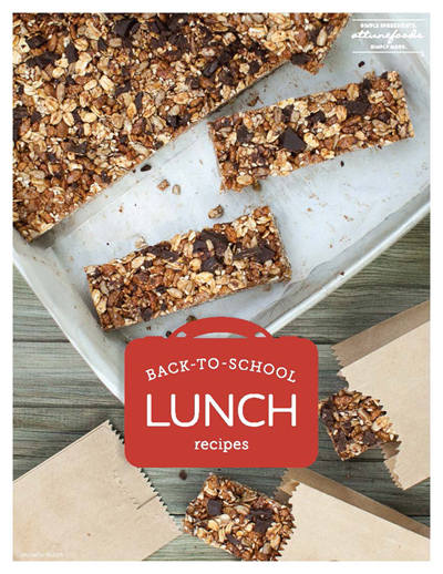 Back-to-School Lunch Recipes FREE eBook