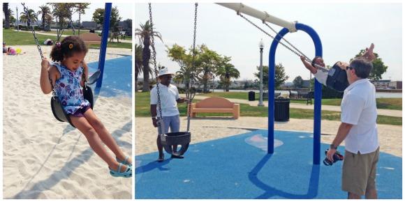 The kids showed grandma and grandpa their favorite playground