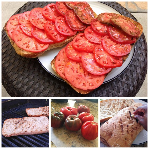 Tomato Ombre on Grilled Rustic Bread